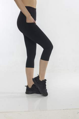WORKOUT POCKET TIGHTS , מחטב שחור